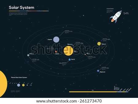 Universe Infographics Flat design. Vector illustration - stock vector