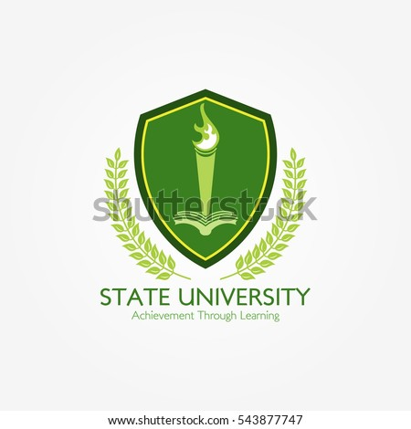 university and college school logo design template vector illustration