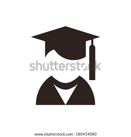 University avatar. Education icon isolated on white background - stock vector