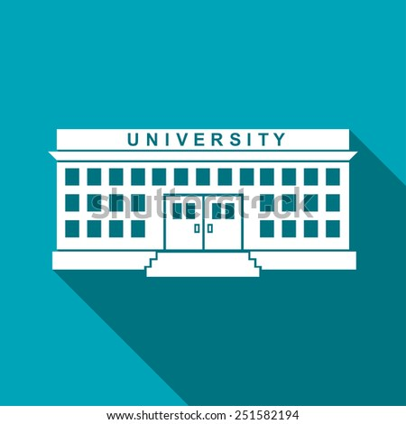 university building - stock vector