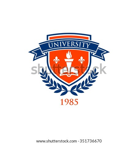 University education logo template - stock vector