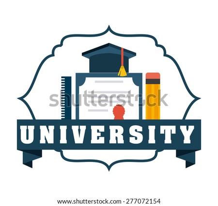 university emblem  design, vector illustration eps10 graphic  - stock vector