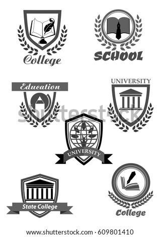 University High School College Academy Template Stock-Vektorgrafik ...