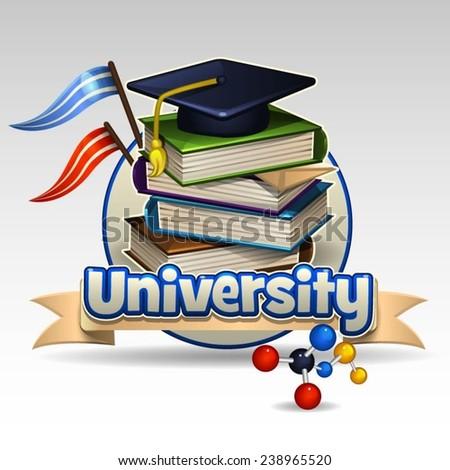 University icon - stock vector