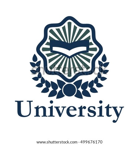 university logo school badge education logo stock vector