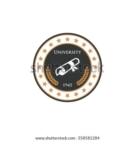 University Logo Template - stock vector