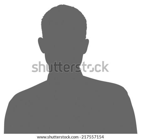 Unknown male person silhouette - stock vector