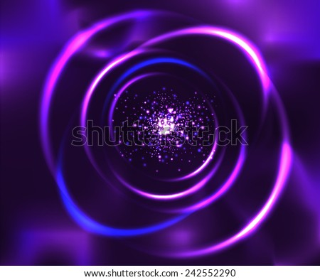 Unknown nebula. Space stars wallpaper. Vector abstract background - stock vector