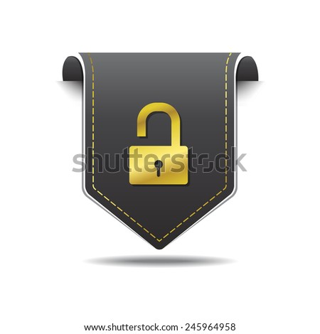 Unlock Golden Vector Icon Design