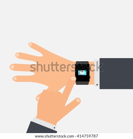Unread messages on the smart phone. vector illustration.