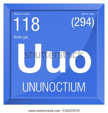 Ununoctium symbol element number 118 periodic stock vector royalty ununoctium symbol element number 118 of the periodic table of the elements chemistry urtaz Gallery
