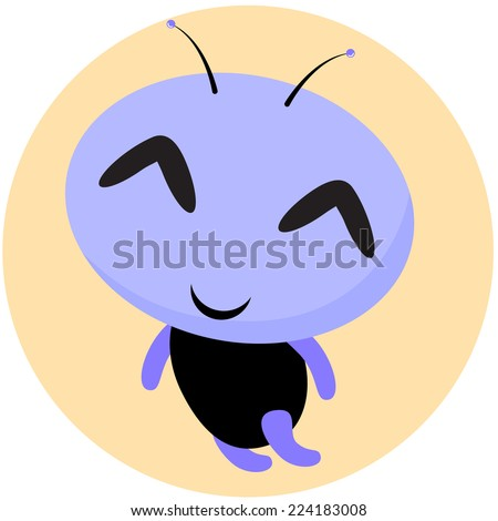 Unusual  Alien Baby Character. Vector Childish Illustration