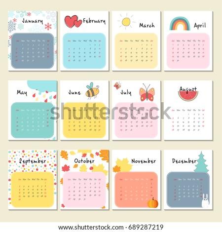 november 2018 calendars cute