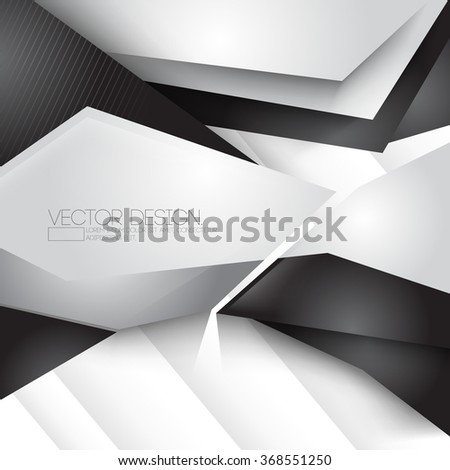 unusual geometric shape chrome metallic elements corporate business illustration - stock vector