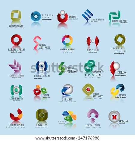 Unusual Icons Set - Isolated On Blue Background - Vector Illustration, Graphic Design Editable For Your Design   - stock vector