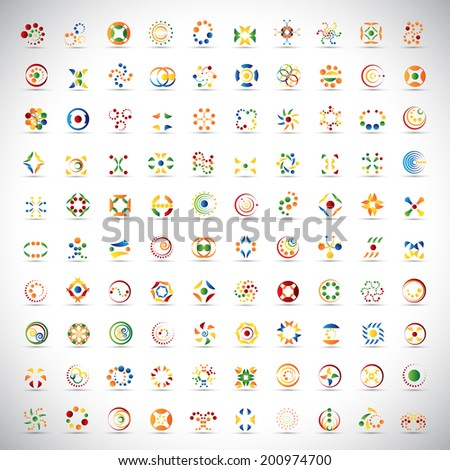 Unusual Icons Set - Isolated On Gray Background - Vector Illustration, Graphic Design Editable For Your Design    - stock vector