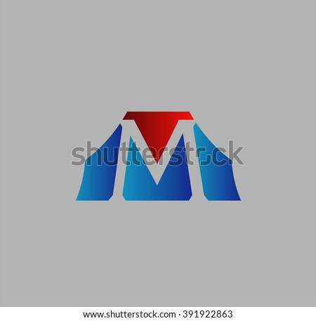 Unusual Letters m Graphic Design Editable For Your Design