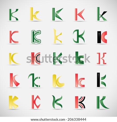 Unusual Letters Set - Isolated On Gray Background - Vector Illustration, Graphic Design Editable For Your Design