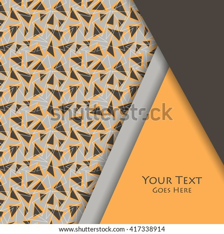 Unusual modern material design vector background. Geometric shapes. Seamless pattern is saved in swatches. Eps10 - stock vector