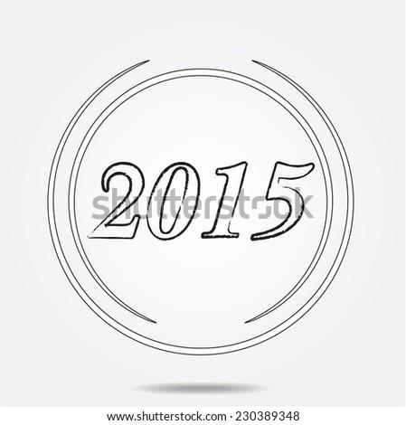 Unusual 2015 new year  - stock vector