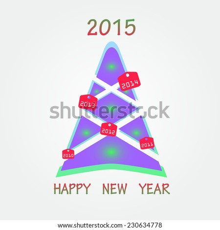 Unusual 2015 new year background. Eps10 - stock vector
