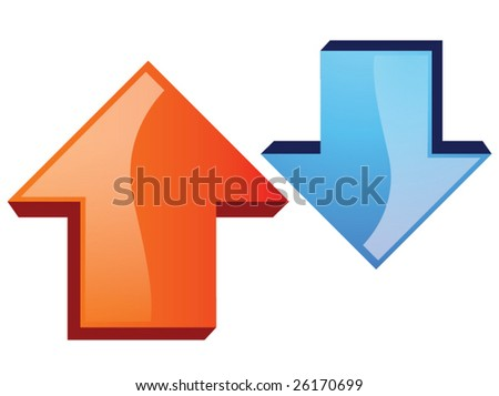 Up and down arrows - stock vector
