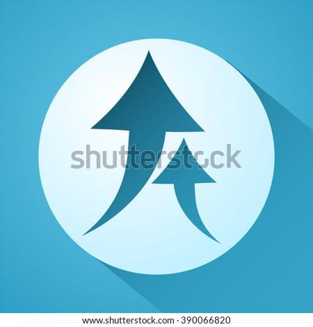 up arrows - stock vector