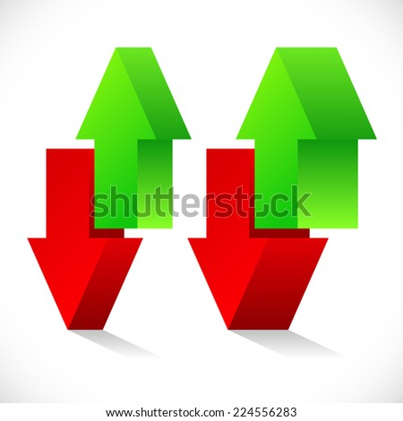 Up down arrow concept. Exchange, raise, lower, stock exchange