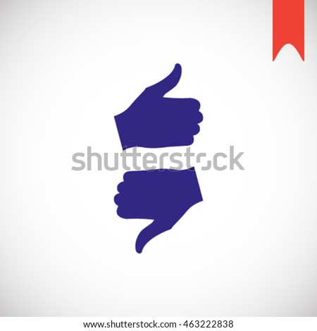 Up down thumb vector icon