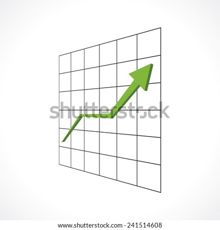 up green arrow economic growth - stock vector