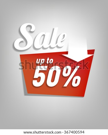 Up to fifty - sale poster - vector illustration - stock vector
