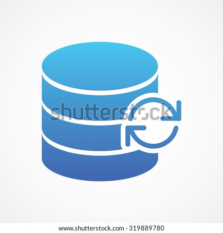 Update Database icon in flat style