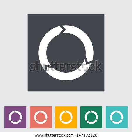 Update flat icon. Vector illustration. - stock vector