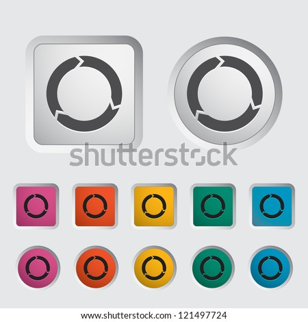 Update icon. Vector illustration. - stock vector