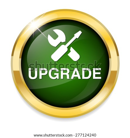 Upgrade  button - stock vector