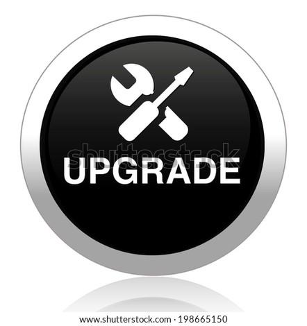 Upgrade now button - stock vector