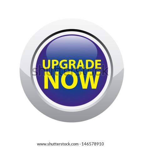 Upgrade now button yellow. Vector - stock vector