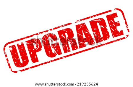 Upgrade red stamp text on white - stock vector