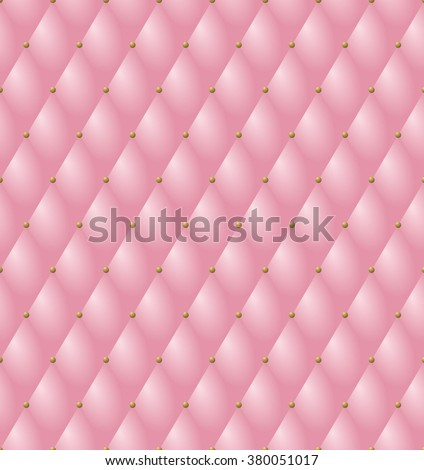 Blue Button-tufted Fabric Background Stock Photo, Picture And ...