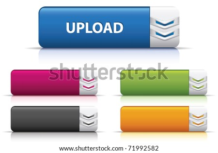 Upload button - stock vector