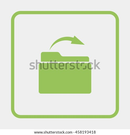 Upload folder. - stock vector