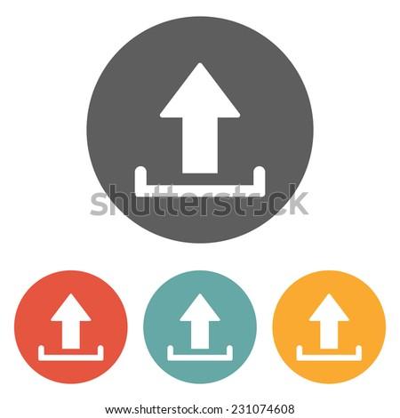 upload icon - stock vector