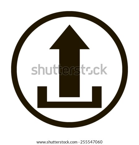 Upload icon - Vector - stock vector