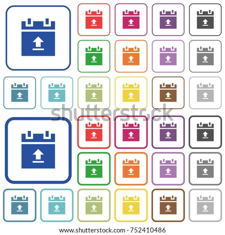 Upload Schedule Data Color Flat Icons Stock Vector 752410486 ...