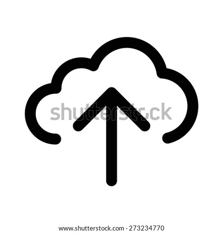 Upload to cloud line art icon for apps and websites - stock vector