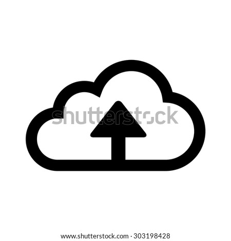 Upload to cloud storage line art icon for apps and websites - stock vector