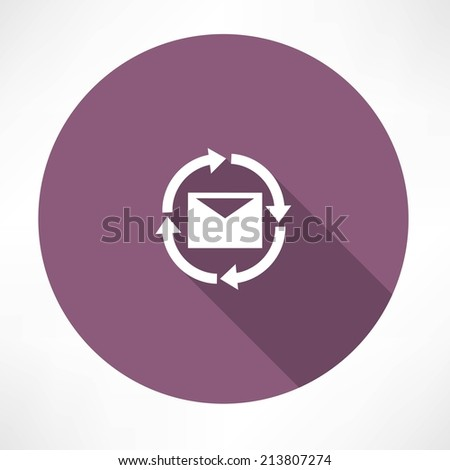 uploads messages icon - stock vector