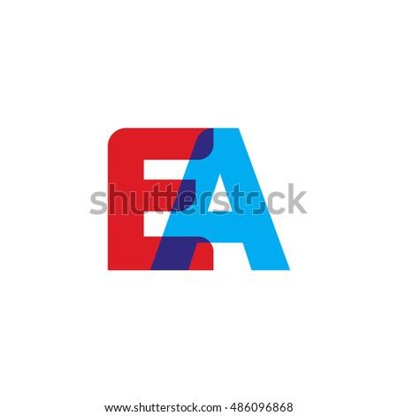 letter ea logo vector stock vector 531550567 - shutterstock