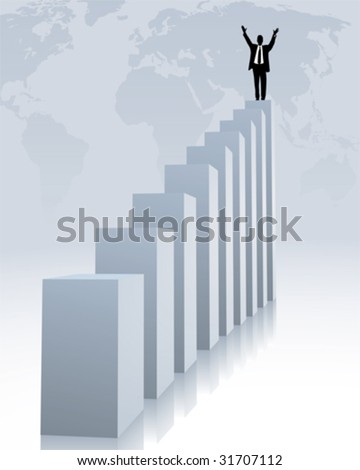 upward trend and success - stock vector