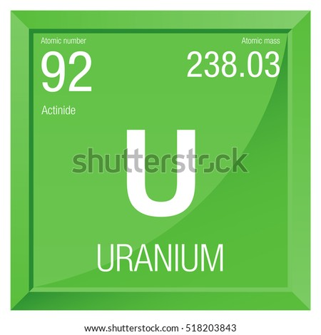 Uranium symbol element number 92 periodic stock vector hd royalty uranium symbol element number 92 of the periodic table of the elements chemistry urtaz Choice Image